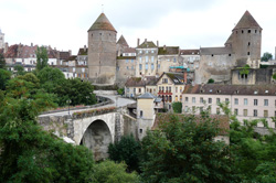 Old buildings in Semur