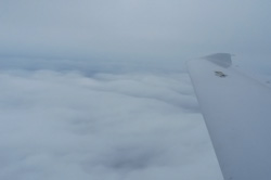 Cloud layer below aircraft