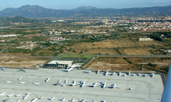 Private jets at Olbia